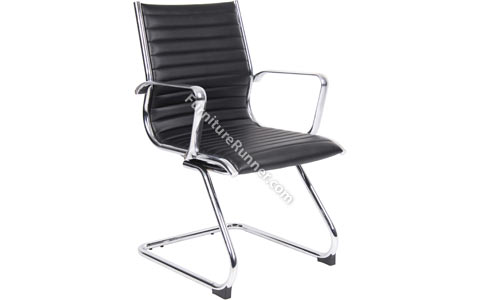 DAMS Bari Leather Cantilever Visitors Chair