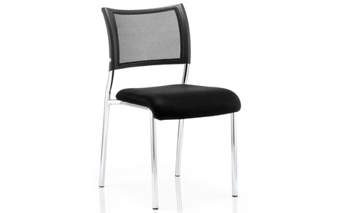 Dynamic Brunswick Visitor Chair Black Fabric Chrome Frame