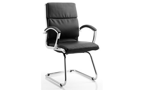 Dynamic Classic Visitor Cantilever Chair Black With Arms