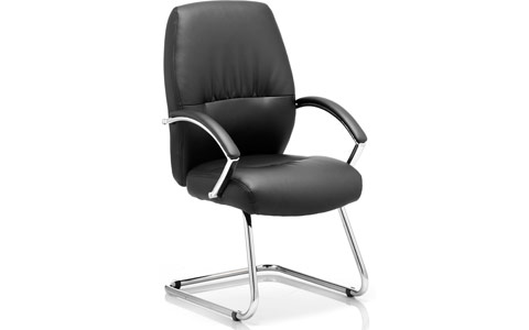 Dynamic Dune Visitor Cantilever Chair Black With Arms