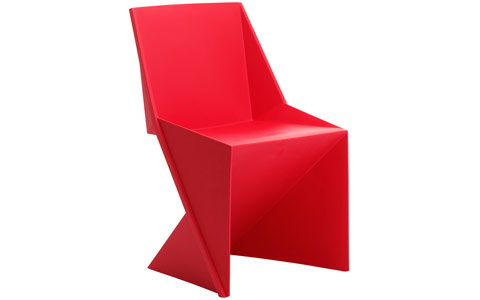 Dynamic Freedom Visitor Stacking Chair Red Polypropylene