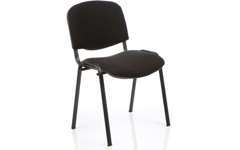Dynamic ISO Visitor Chair Black Fabric Black Frame