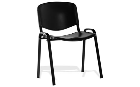 Dynamic ISO Visitor Chair Black Poly Black Frame