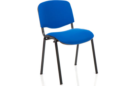 Dynamic ISO Visitor Chair Blue Fabric Black Frame