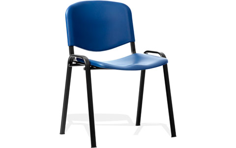 Dynamic ISO Visitor Chair Blue Poly Black Frame