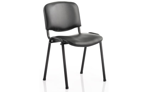 Dynamic ISO Visitor Chair Black Vinyl Black Frame