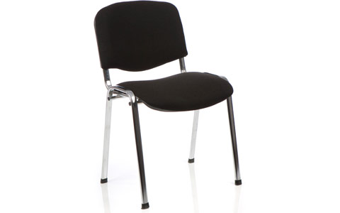 Dynamic ISO Visitor Chair Black Fabric Chrome Frame