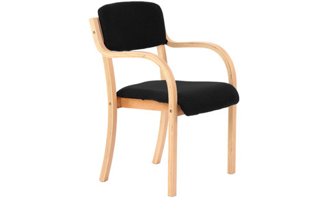 Dynamic Madrid Visitor Chair Black With Arms