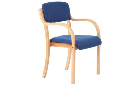 Dynamic Madrid Visitor Chair Blue With Arms