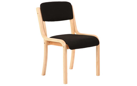 Dynamic Madrid Visitor Chair Black