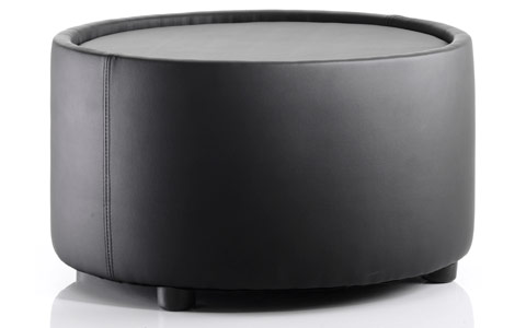 Dynamic Neo Round Table Black Leather
