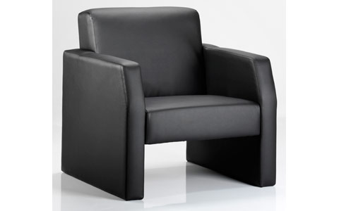 Dynamic Oracle Single Break Out And Reception Chair Black Leather