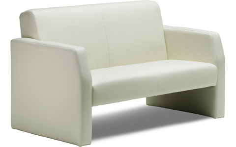 Dynamic Oracle Twin Break Out And Reception Sofa Ivory Leather
