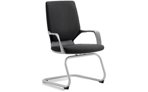 Dynamic Xenon Visitor Cantilever Black Chair Black Fabric With Arms
