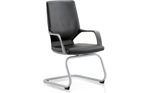 Dynamic Xenon Visitor Cantilever Black Chair Black Leather With Arms