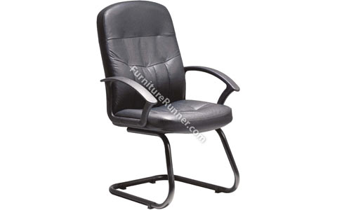 DAMS Cavalier Cantilever Leather High Back Chair