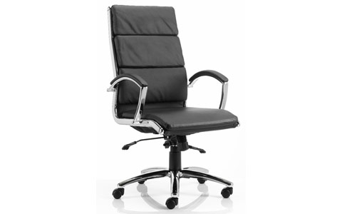 Dynamic Classic Executive Chair Black With Arms High Back
