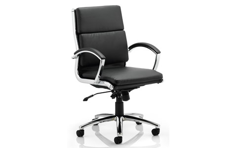 Dynamic Classic Executive Chair Black With Arms Medium Back