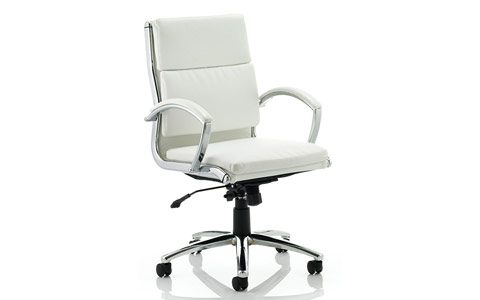 Dynamic Classic Executive Chair White With Arms Medium Back
