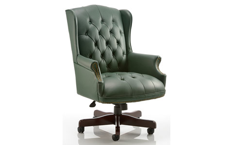 green leather office chair. Dynamic Commodore Executive Chair Green Leather With Arms Office H