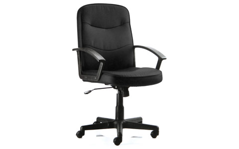 Dynamic Harley Executive Chair Black Fabric With Arms