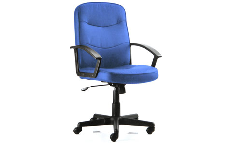 Dynamic Harley Executive Chair Blue Fabric With Arms