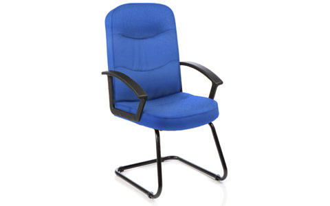 Dynamic Harley Visitor Cantilever Blue Fabric With Arms