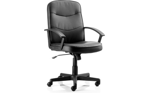 Dynamic Harley Executive Chair Black Leather With Arms