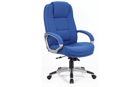 Dynamic Monterey Executive Chair Blue Fabric Chair With Arms