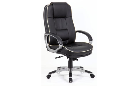 Dynamic Monterey Executive Chair Black Leather With Arms