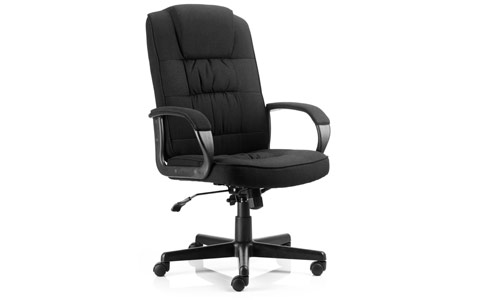 Dynamic Moore Executive Chair Black Fabric With Arms