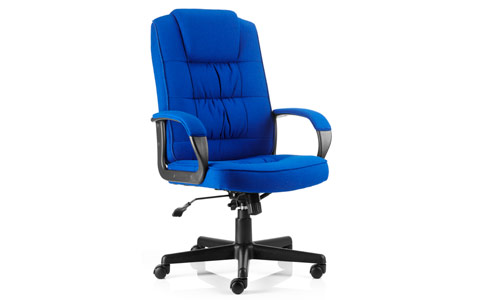 Dynamic Moore Executive Chair Blue Fabric With Arms