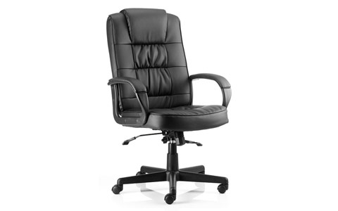 Dynamic Moore Executive Black Leather With Arms