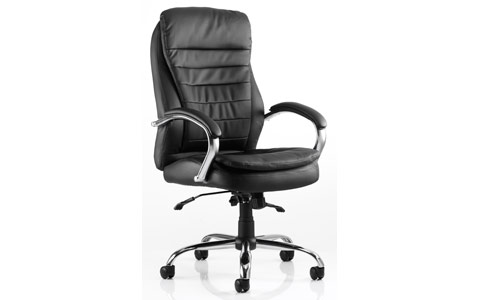 Dynamic Rocky Executive Chair Black Leather High Back With Arms