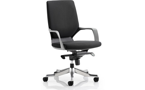 Dynamic Xenon Executive Black Chair Black Fabric Medium Back With Arms