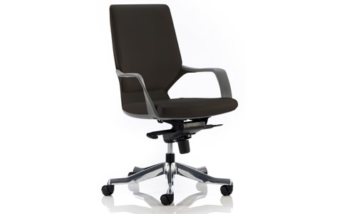 Dynamic Xenon Executive Black Chair Black Leather Medium Back With Arms
