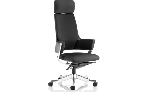 Dynamic Enterprise Executive Chair Black Fabric High Back With Arms