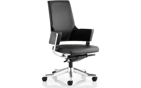 Dynamic Enterprise Executive Chair Black Bonded Leather Medium Back With Arms