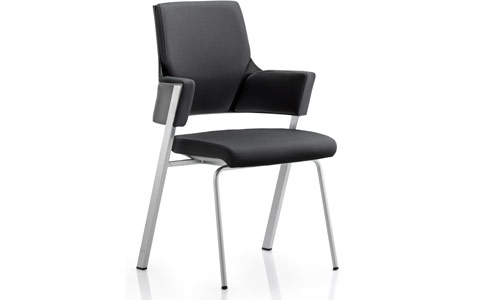 Dynamic Enterprise Visitor Chair Black Fabric With Arms