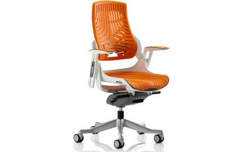 Dynamic Zure Executive Chair Elastomer Gel Orange With Arms