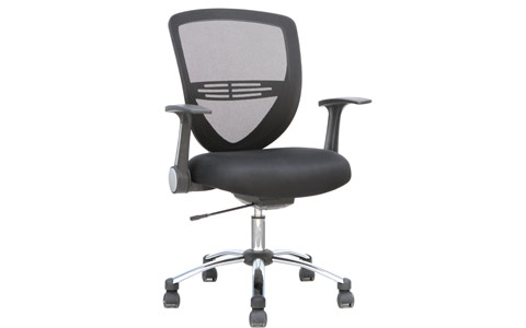 Dynamic Iris Task Operator Chair Black Fabric With Arms