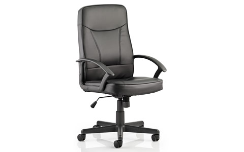 Dynamic Blitz Executive Black Chair Black Bonded Leather With Arms