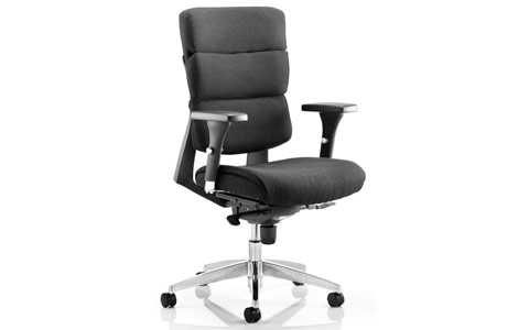 Dynamic Aura Black Fabric Task Chair With Arms