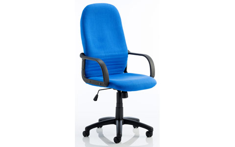 Dynamic Bevan Blue Fabric Executive Chair With Arms