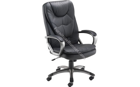 Arista High Back Leather Managers Chair - Chrome
