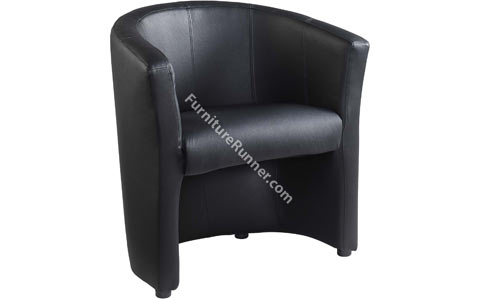 DAMS London Leather Reception Single Seat