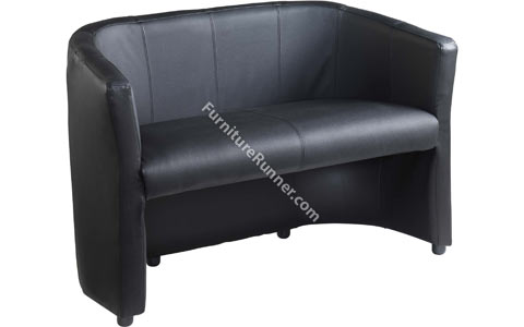 DAMS London Leather Reception Double Seat