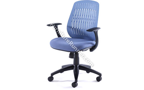 DAMS LUNA - Mesh Back Manager Chair with Fabric Seat