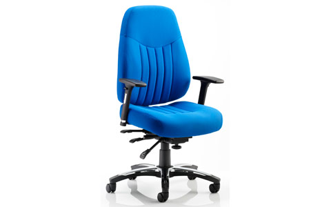 Dynamic Barcelona Deluxe Task Operator Chair Blue Fabric