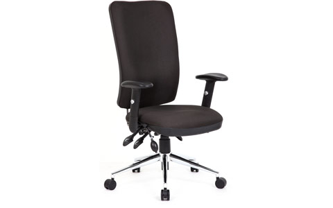 Dynamic Chiro Task Operators Chair Black With Arms High Back